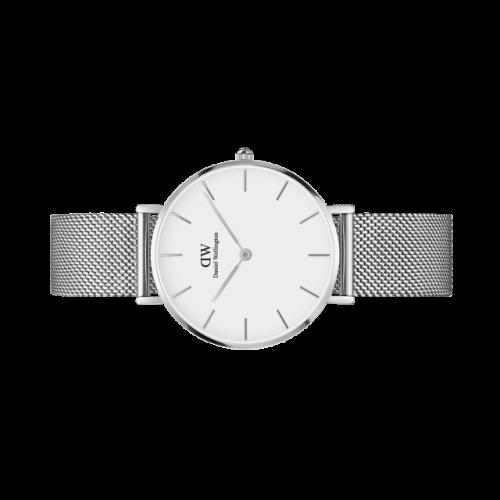 Classic Petite Sterling quadrante bianco 32 mm - Daniel Wellington