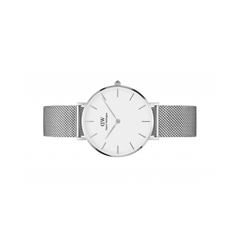 Classic Petite Sterling quadrante bianco 32 mm - Daniel Wellington