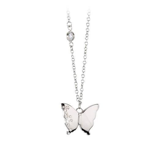 Collana acciaio con pendente farfalla Diva - 2Jewels