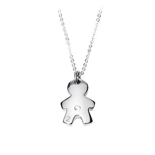 Collana donna acciaio e cristalli Puppy - 2Jewels