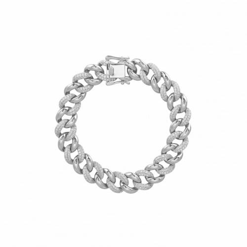 Bracciale in argento con zirconi - Mabina Gioielli
