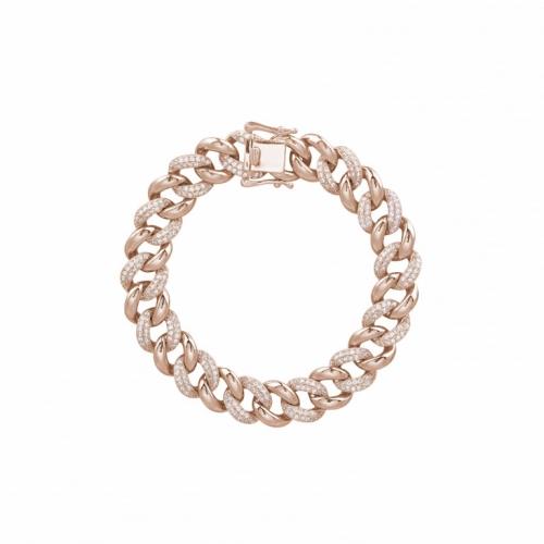 Bracciale in argento rosé con zirconi - Mabina Gioielli