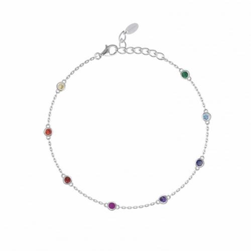 Bracciale in argento con zirconi multicolor - Mabina Gioielli
