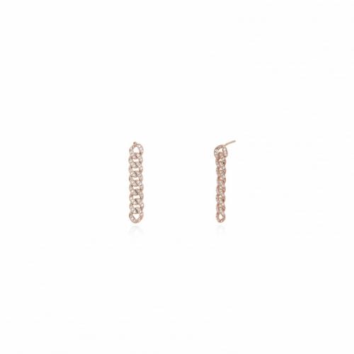 Orecchini in argento rosé e zirconi - Mabina Gioielli
