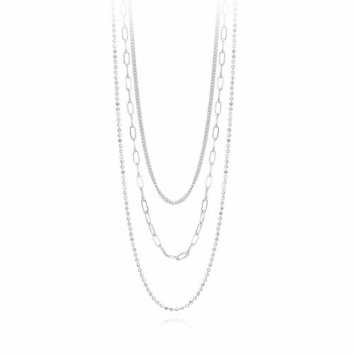 Tris di catene in gradazione argento (48 cm)
