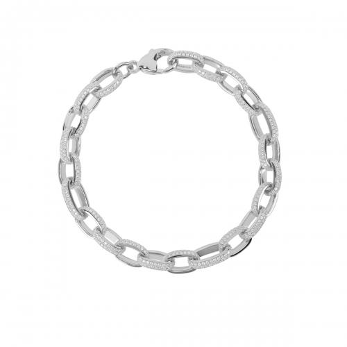Bracciale Mabina in argento con zirconi