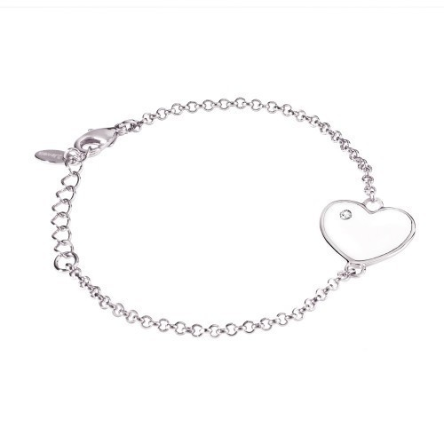 Bracciale con cuore e cristallo Simply Love - 2Jewels