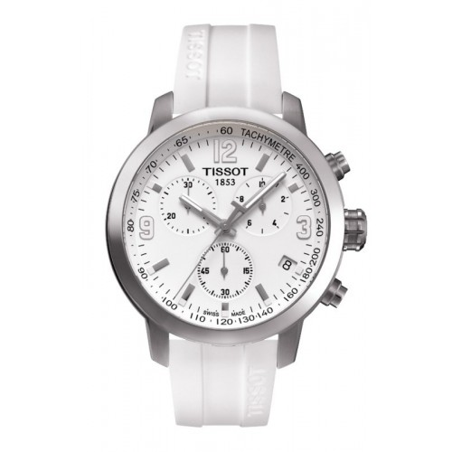 Orologio PRC 200 Chronograph cinturino bianco - Tissot