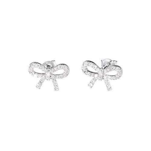 Orecchini argento e zirconi forma di fiocco 563040 - Mabina