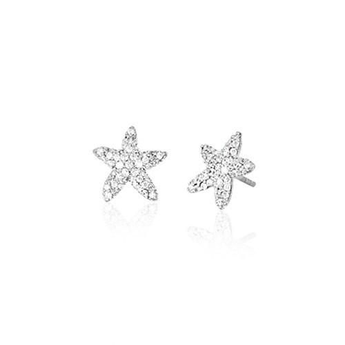 Orecchini argento e zirconi forma di stella 563069 - Mabina
