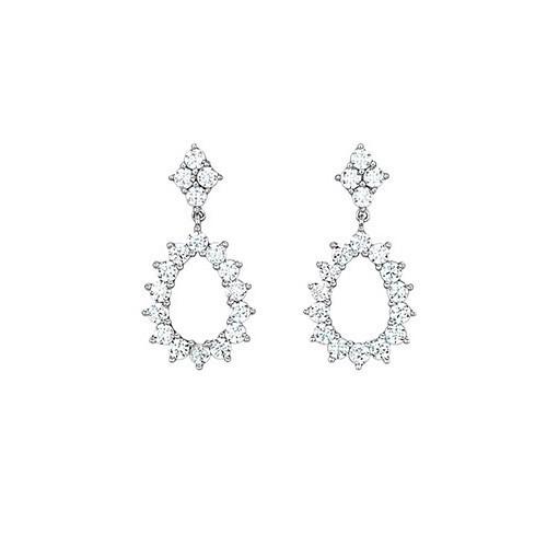 Orecchini argento e zirconi 563046 - Mabina