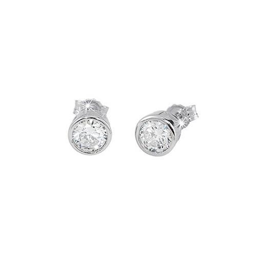 Orecchini argento e zirconi 563022 - Mabina