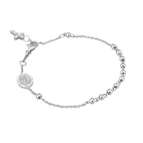 Bracciale argento e zirconi con croce 533033 - Mabina