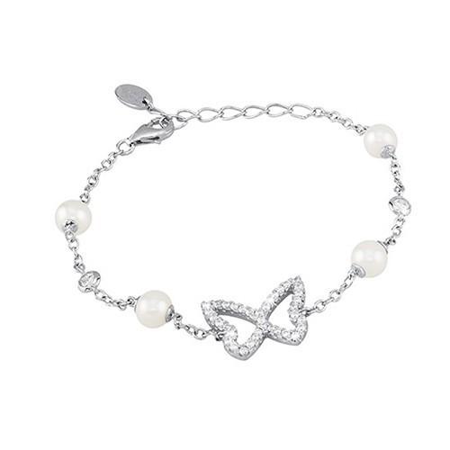 Bracciale argento zirconi e perle coltivate 533005 - Mabina