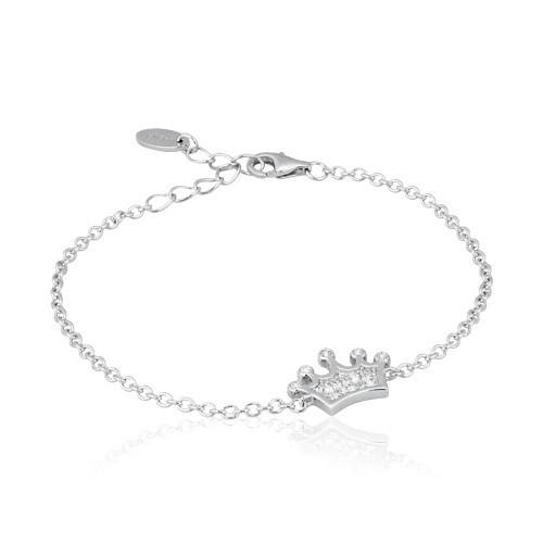 Bracciale argento e zirconi con corona 533056 - Mabina