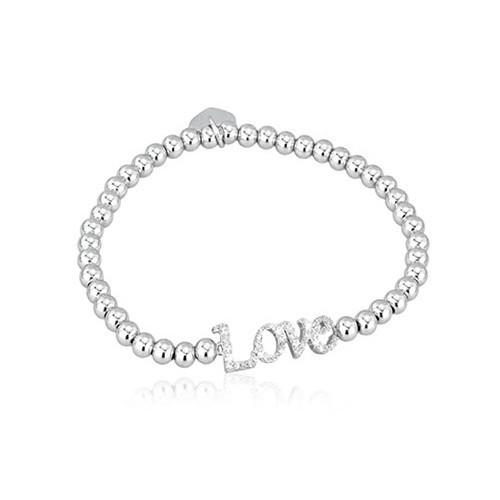Bracciale argento e zirconi love 533048 - Mabina