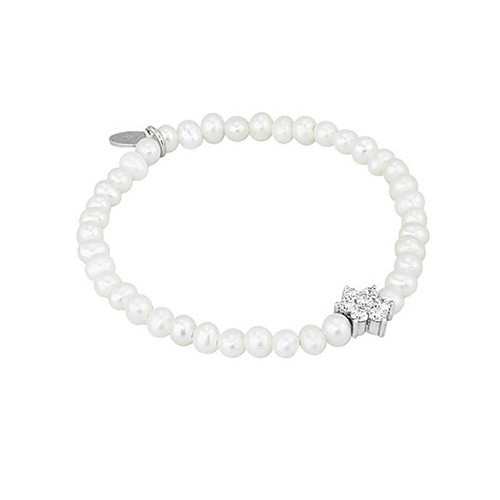 Bracciale argento zirconi e perle coltivate 533032 - Mabina