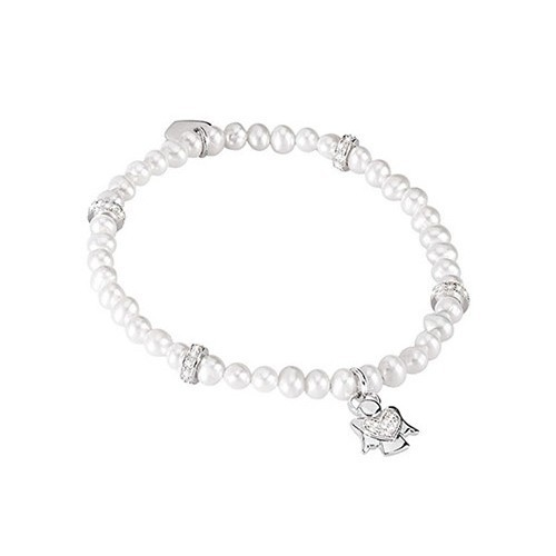 Bracciale argento zirconi e perle coltivate 533026 - Mabina