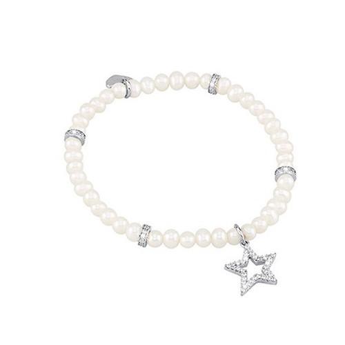 Bracciale argento zirconi e perle coltivate 533012 - Mabina
