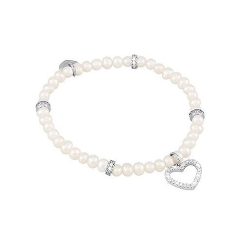 Bracciale argento zirconi e perle coltivate 533029 - Mabina