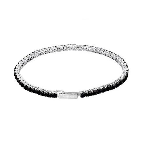 Bracciale argento e zirconi neri 533023 - Mabina