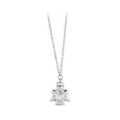 Girocollo argento e zirconi con angioletto 553023 - Mabina