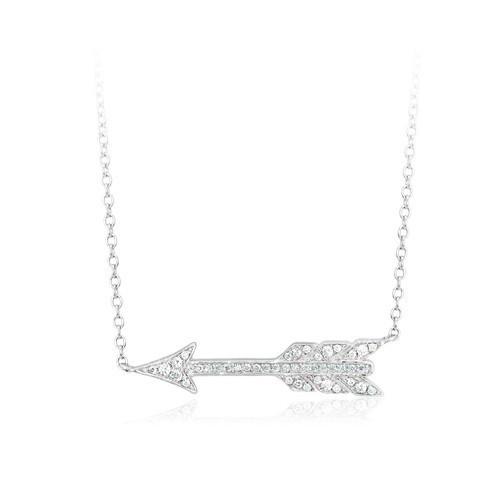Girocollo argento e zirconi con freccia 553070 - Mabina