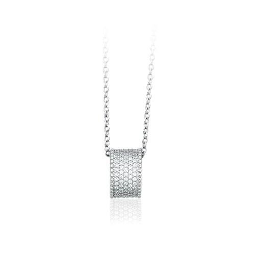 Girocollo argento e zirconi 553064 - Mabina