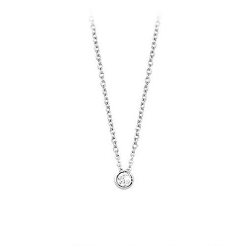 Girocollo argento e zirconi 553013 - Mabina