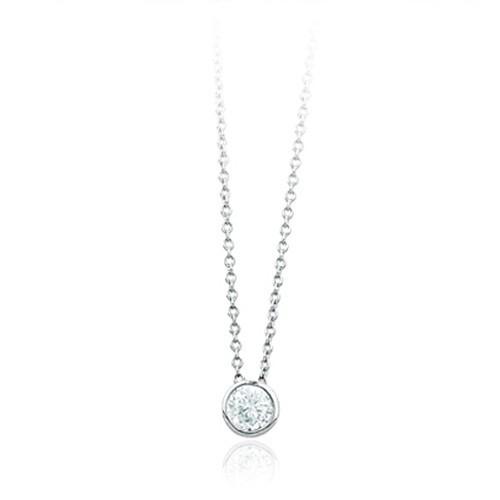Girocollo argento e zirconi 553062 - Mabina