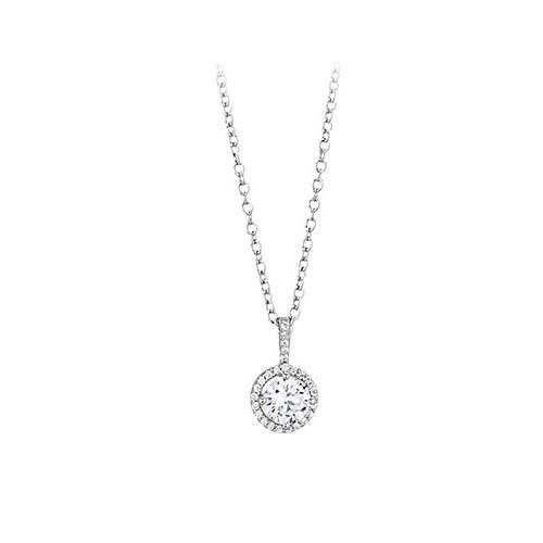 Girocollo argento e zirconi 553028 - Mabina