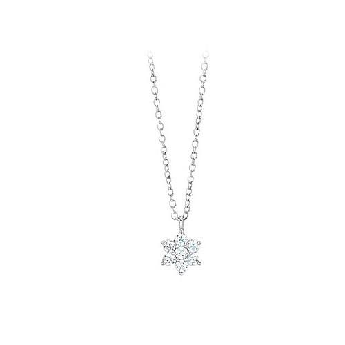 Girocollo argento e zirconi con stella 553030 - Mabina