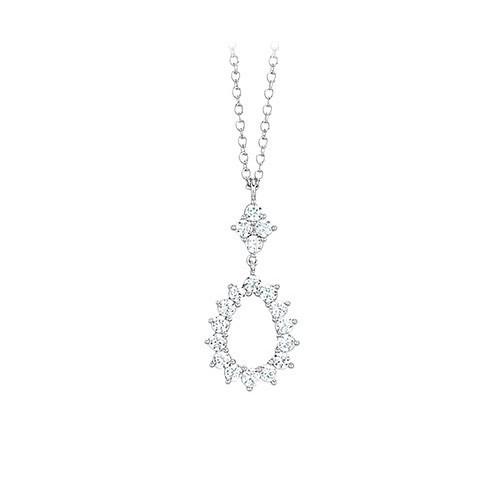 Girocollo argento e zirconi 553041 - Mabina