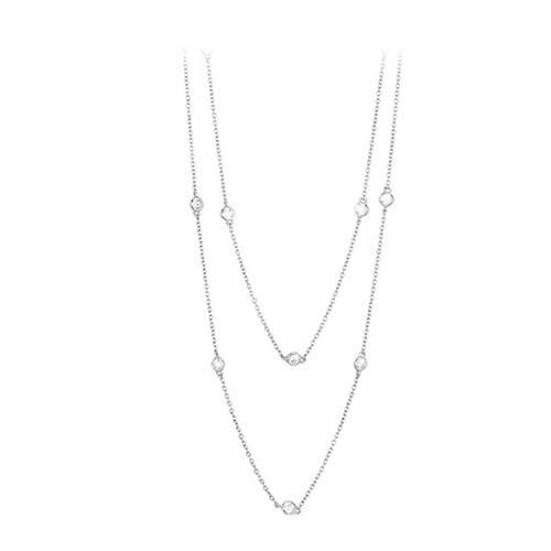 Girocollo argento e zirconi 553008 - Mabina