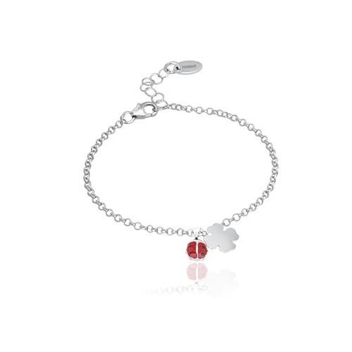 Bracciale argento e smalto con coccinella 533041 - Mabina