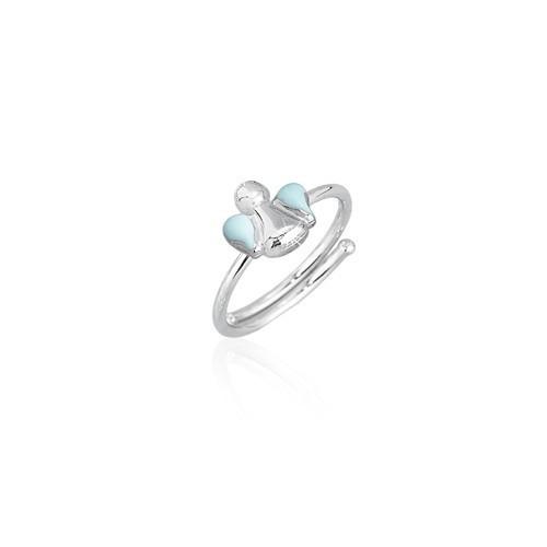 Anello regolabile argento e smalto 523034 - Mabina