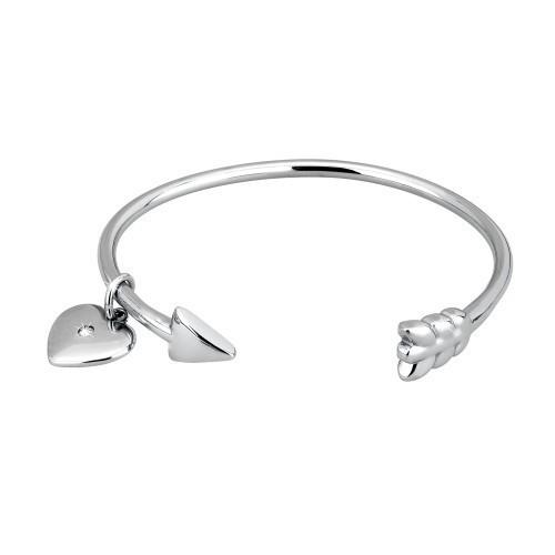 Bracciale acciaio con cuore - 2Jewels