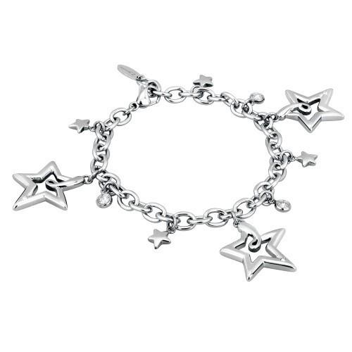 Bracciale acciaio e cristallo Starry - 2Jewels