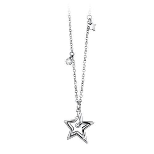 Collana acciaio e cristallo Starry - 2Jewels