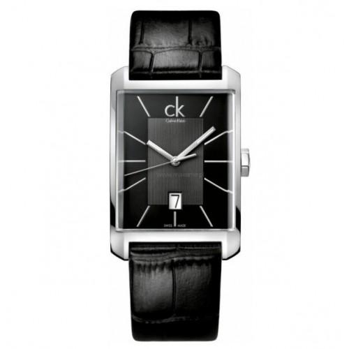 Orologio Window cinturino pelle nero - Calvin Klein
