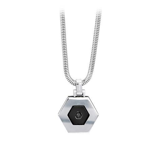 Collana acciaio Hexagon - 2Jewels