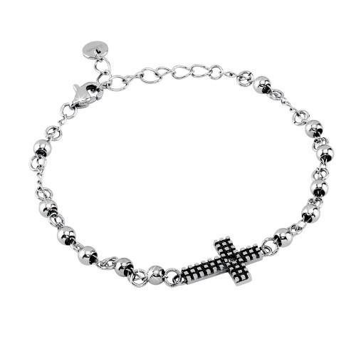 Bracciale acciaio e cristallo Faith - 2Jewels