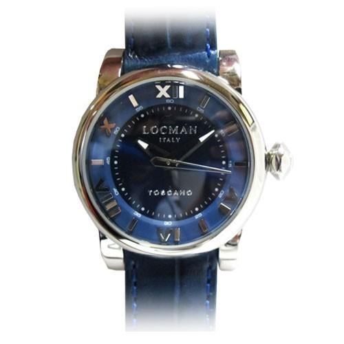 Orologio Toscano cinturino pelle blu - Locman