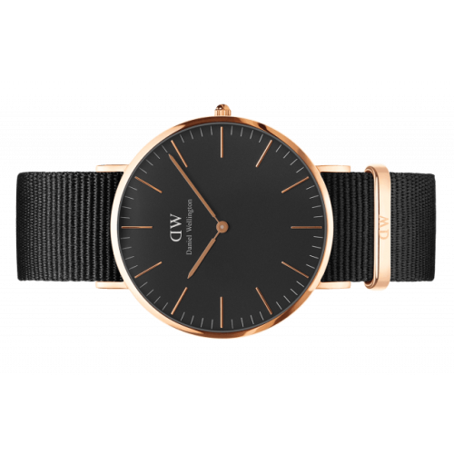Classic Black Cornwall 40 mm - Daniel Wellington