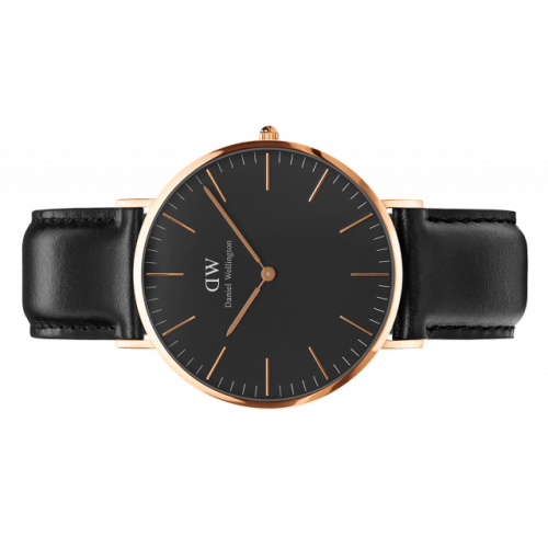 Classic Black Sheffield 36 mm - Daniel Wellington