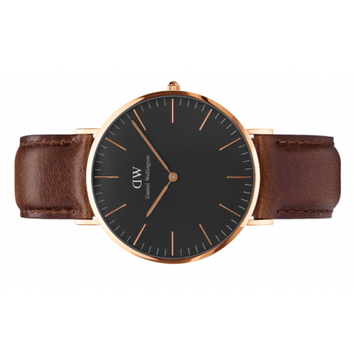 Classic Black Bristol 40 mm - Daniel Wellington