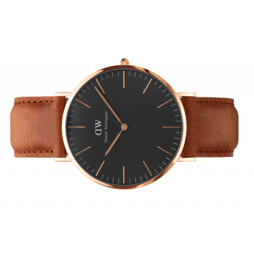 Classic Black Durham 36 mm - Daniel Wellington